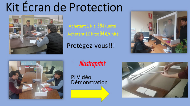 vente kit écran de protection